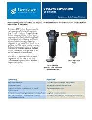 cyclone separator - Donaldson Company, Inc.