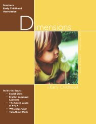 Dimensions - Southern Early Childhood Association