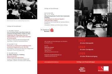 Staats Archiv Bremen - Historische Gesellschaft Bremen