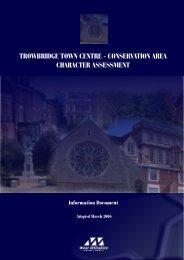 trowbridge town centre - conservation area ... - Wiltshire Council