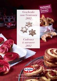 Geschenke zum Geniessen 2012 Cadeaux à savourer ... - Dr. Oetker