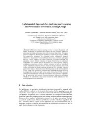 An Integrated Approach for Analysing and Assessing the ... - TeLearn