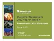 Customer Generation: 2012 Year in Review - Solar Washington