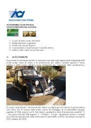 AUTOMOBILE CLUB D'ITALIA UFFICIO PROVINCIALE SAVONA 1 ...