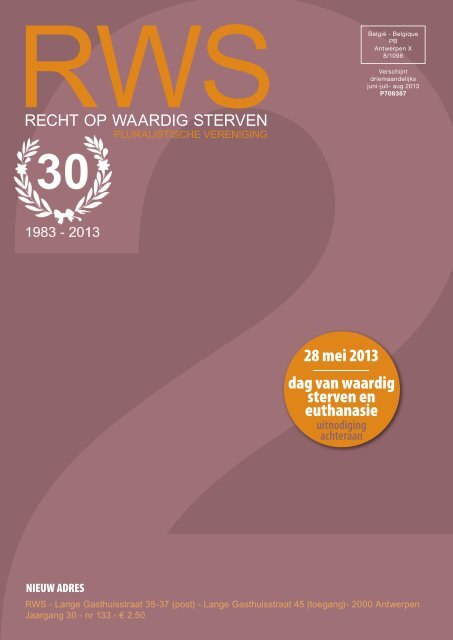 28 mei 2013 dag van waardig sterven en euthanasie - Recht op ...