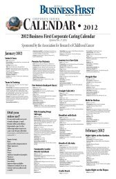 2012 Business First Corporate Caring Calendar (Updated Nov. 17 ...