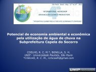 Potencial de economia ambiental e econômica pela utilização de ...