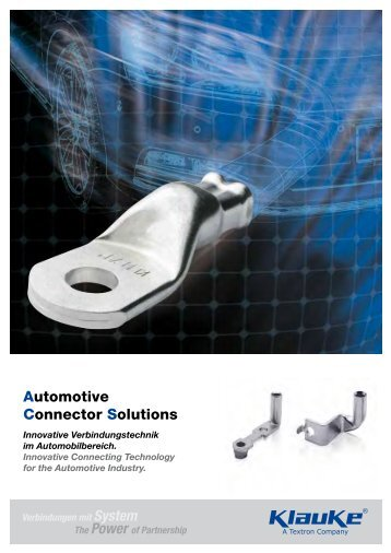 Automotive Connector Solutions Katalog - Gustav Klauke GmbH