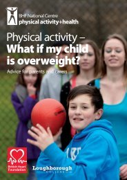 What if my child is overweight? - BHF National Centre - physical ...