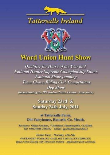 The Ireland/Ward Union Hunt Show 2011 Entry Form - Tattersalls