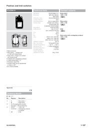 Position and limit switches - KASBASE