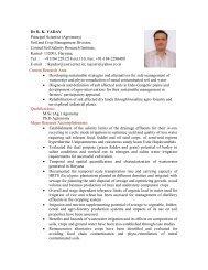 Dr R. K. YADAV Principal Scientist (Agronomy) Soil ... - CSSRI Karnal