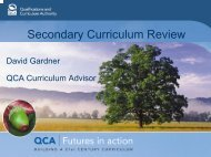 Secondary Curriculum Review - Royal Geographical Society