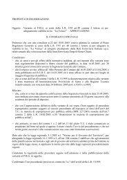 delibera di approvazione - Comune di Siena