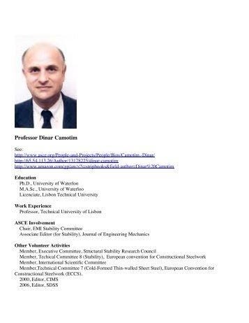 Professor Dinar Camotim - Shellbuckling.com