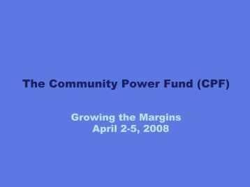 Funding Opportunities from The Community Power Fund