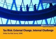 Tax Risk: External Change, Internal Challenge