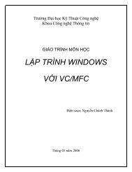 LẬP TRÌNH WINDOWS VỚI VC/MFC - Khoa Toán