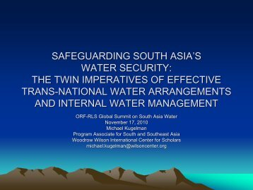 Safeguarding South Asia's Water Security