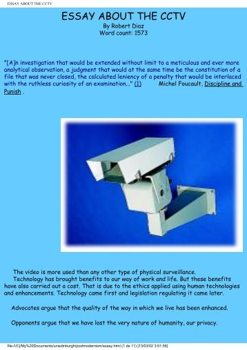 ESSAY ABOUT THE CCTV - gartagani