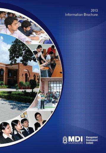 MDI-InforamationBroc.. - Management Development Institute
