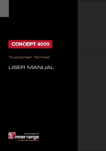 Concept Touchscreen User Manual
