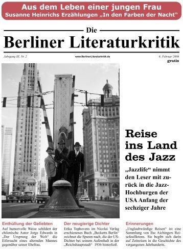 BLK 2006, Jg. III, Nr. 2   6. Januar - Die Berliner Literaturkritik