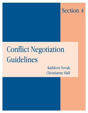 Conflict Negotiation Guidelines (Section 4) - Health Systems 20/20