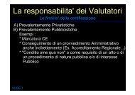 Le responsabilità dell'Auditor dei Sistemi di - Cepas