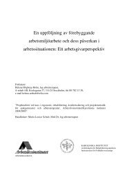 En uppföljning av förebyggande ... - Lunds universitet