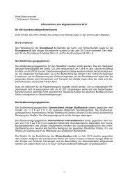 Informationen zum Abgabenbescheid 2013 - Stadt Radevormwald