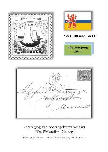 De Philatelist Geleen, - Eerste Kerkraadse Philatelisten Vereniging