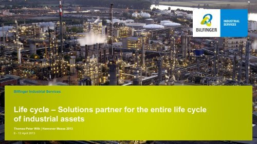 Life cycle - Bilfinger