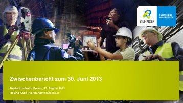 Januar – Juni 2013 - Bilfinger