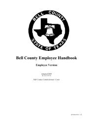 Bell County Employee Handbook - Bell County Home Page