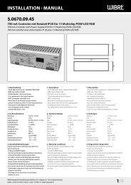 InstallatIon · Manual 5.0670.09.45 1/4 - Wibre Elektrogeräte Edmund ...