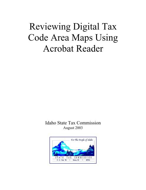Reviewing Digital Tax Code Area Maps Using Acrobat Reader on