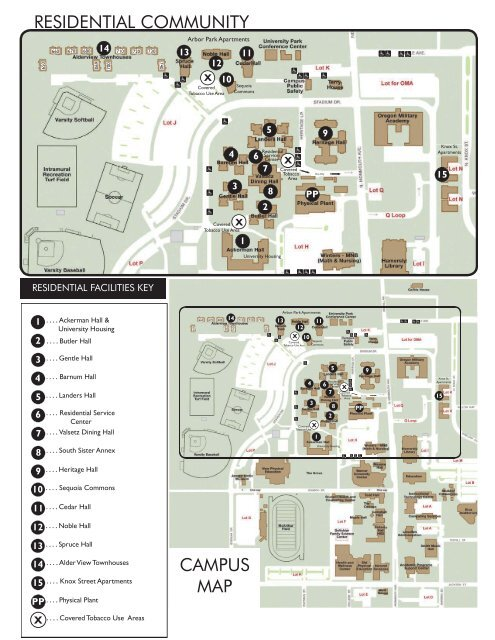 Lander Campus Map.Residence Hall Map And Directions To Campus