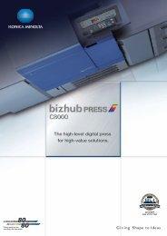 The high-level digital press for high-value ... - KONICA MINOLTA