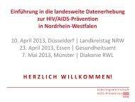 hier (PDF) - Arbeitsgemeinschaft AIDS-Prävention NRW