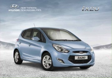 Specifications shown in this brochure are based upon - Hyundai