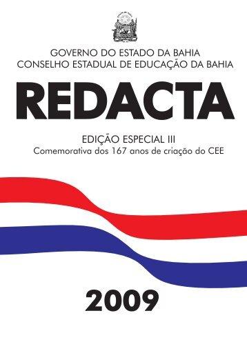 REDACTA Especial III - 167 anos - Secretaria da Educação ...