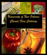 University of New Orleans Classic Fare Catering - CampusDish