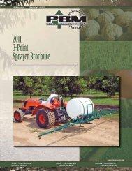 2011 3-Point Sprayer Brochure - PBM Supply & Mfg.