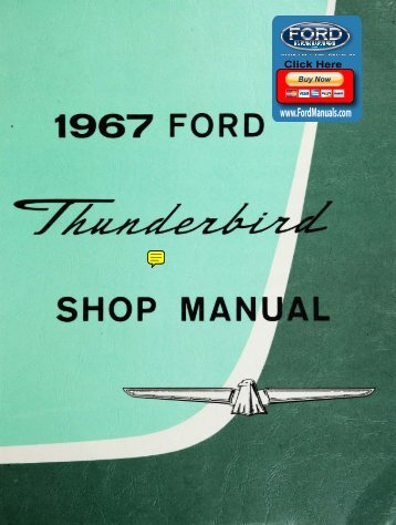 DEMO - 1967 Ford Thunderbird Shop Manual - FordManuals.com