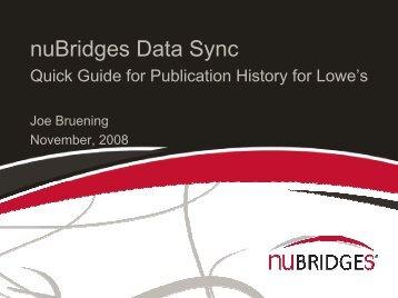 nuBridges Data Sync - LowesLink