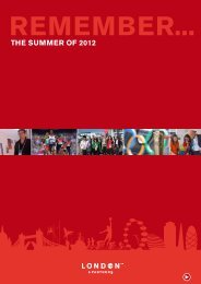 the summeR of 2012 - London & Partners