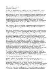 Leserbrief an den Stern - Tibetischer Buddhismus im Westen