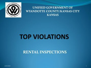 top violations found - Unified Government of Wyandotte County ...