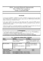 APAS - Associação Paulista de Supermercados PIS e COFINS Não ...